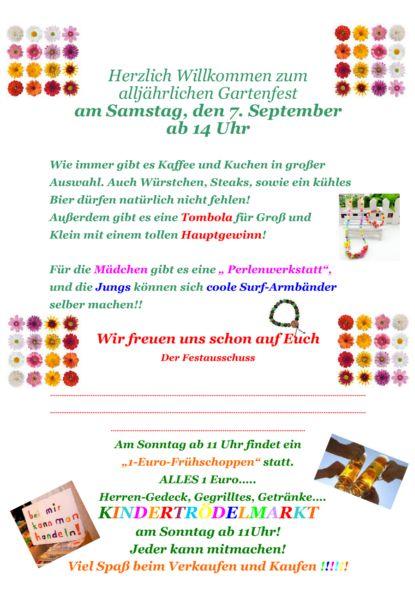 Plakat Gartenfest 2013